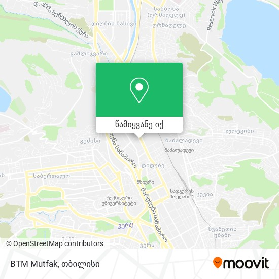 BTM Mutfak რუკა