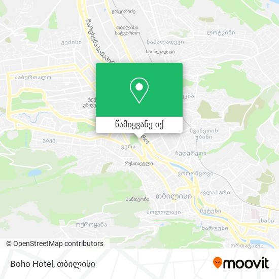 Boho Hotel რუკა