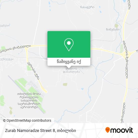 Zurab Namoradze Street 8 რუკა