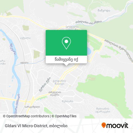 Gldani VI Micro-District რუკა