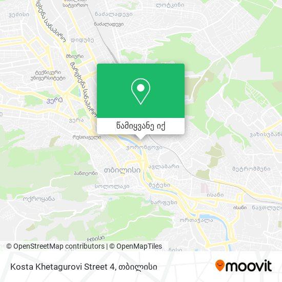 Kosta Khetagurovi Street 4 რუკა