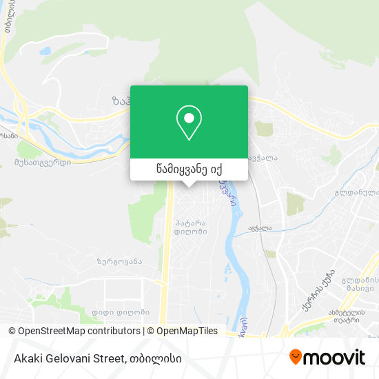 Akaki Gelovani Street რუკა