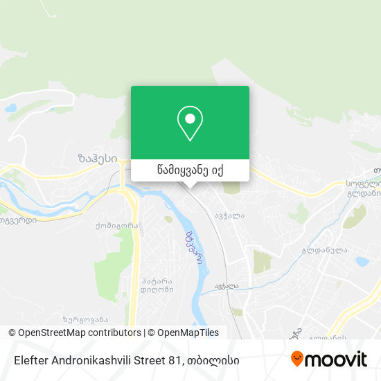 Elefter Andronikashvili Street 81 რუკა