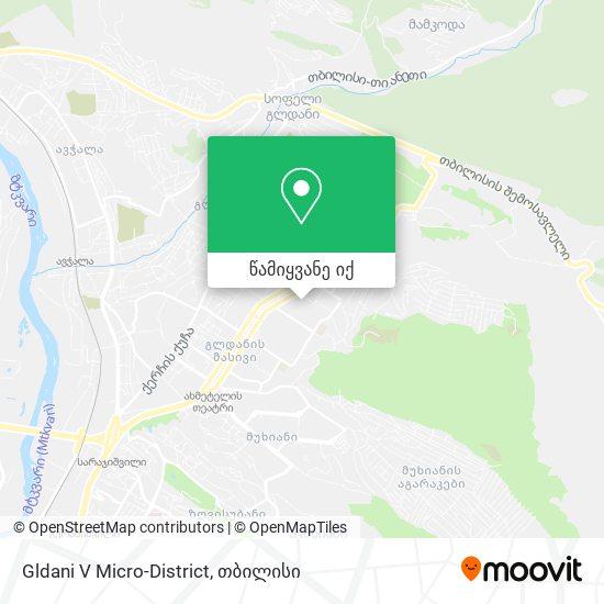Gldani V Micro-District რუკა