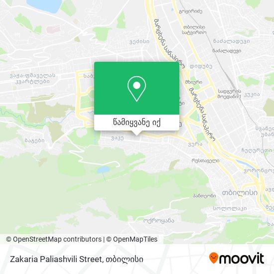 Zakaria Paliashvili Street რუკა