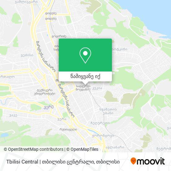 Tbilisi Central   თბილისი ცენტრალი რუკა