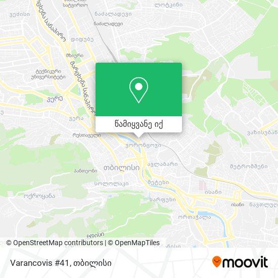 Varancovis #41 რუკა