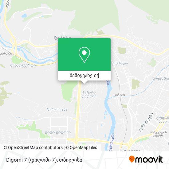 Digomi 7 (დიღომი 7) რუკა