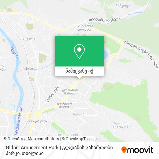 Gldani Amusement Park | გლდანის გასართობი პარკი რუკა