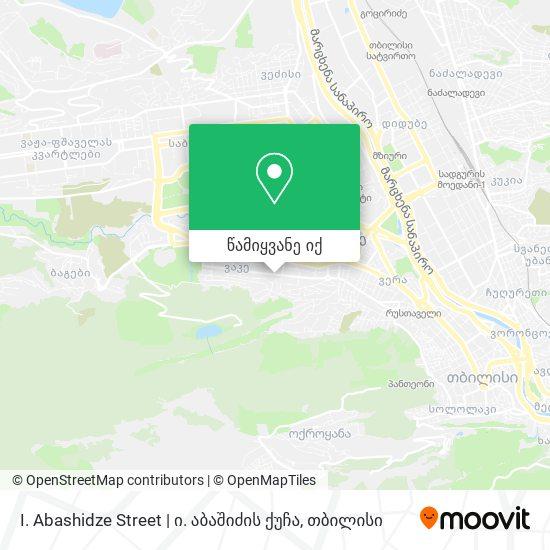I. Abashidze Street | ი. აბაშიძის ქუჩა რუკა