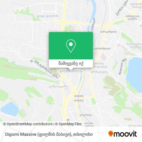 Digomi Massive (დიღმის მასივი) რუკა