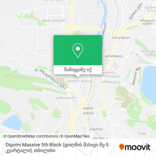 Digomi Massive 5th Block (დიღმის მასივი მე-5 კვარტალი) რუკა