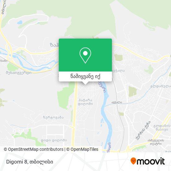 Digomi 8 რუკა