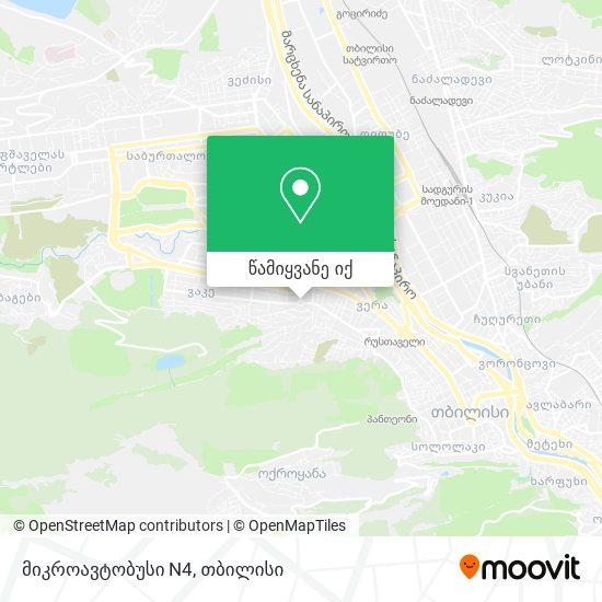 მიკროავტობუსი N4 რუკა
