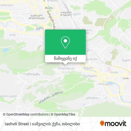 Iashvili Street   იაშვილის ქუჩა რუკა