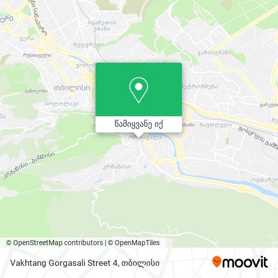 Vakhtang Gorgasali Street 4 რუკა