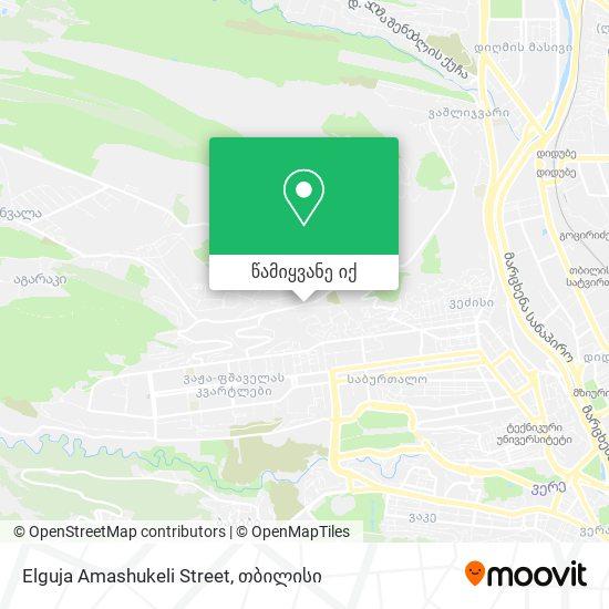 Elguja Amashukeli Street რუკა