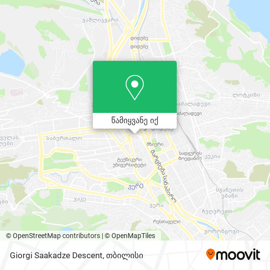 Giorgi Saakadze Descent რუკა