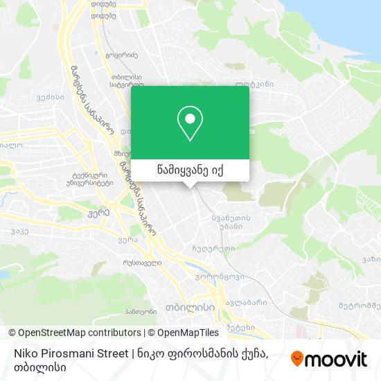 Niko Pirosmani Street | ნიკო ფიროსმანის ქუჩა რუკა