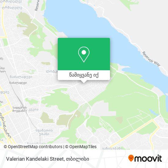 Valerian Kandelaki Street რუკა