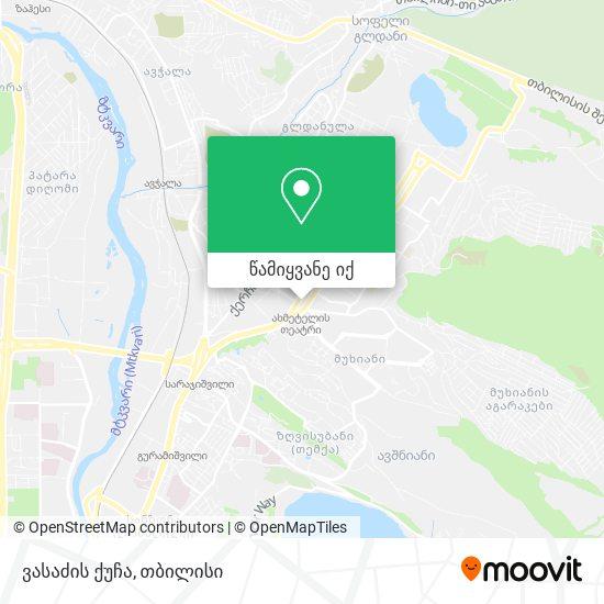 ვასაძის ქუჩა რუკა