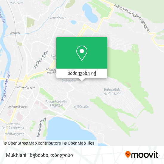Mukhiani | მუხიანი რუკა