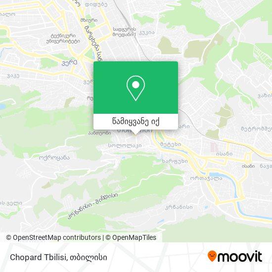 Chopard Tbilisi რუკა