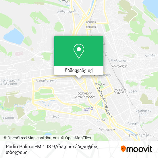 Radio Palitra FM 103.9 / რადიო პალიტრა რუკა