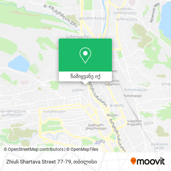 Zhiuli Shartava Street 77-79 რუკა