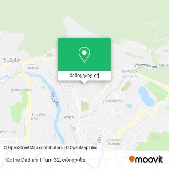 Cotne Dadiani I Turn 32 რუკა