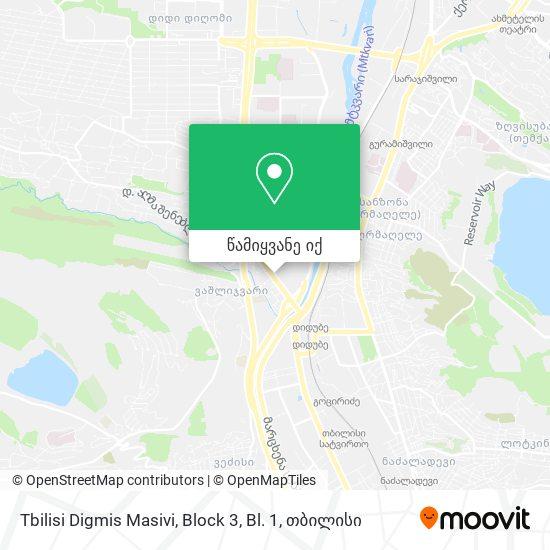 Tbilisi Digmis Masivi, Block 3, Bl. 1 რუკა