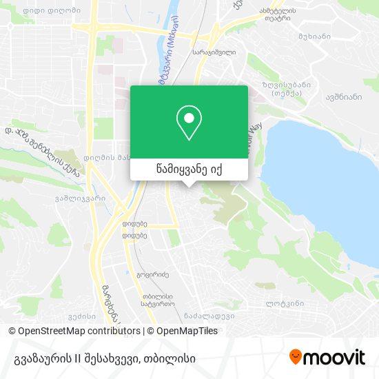 გვაზაურის II შესახვევი რუკა