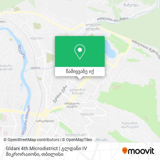 Gldani 4th Microdistrict   გლდანი IV მიკრორაიონი რუკა