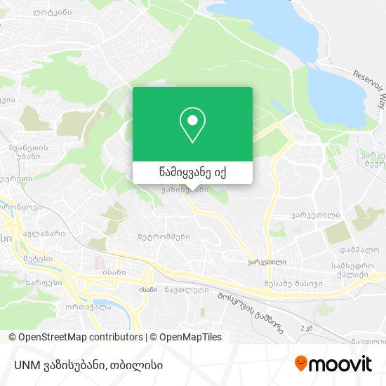 UNM ვაზისუბანი რუკა