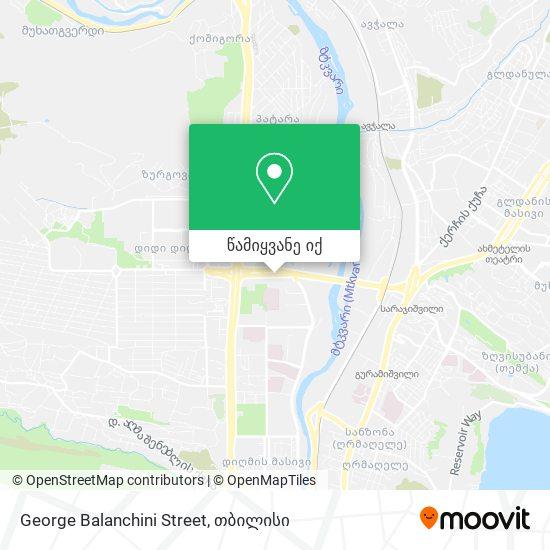 George Balanchini Street რუკა