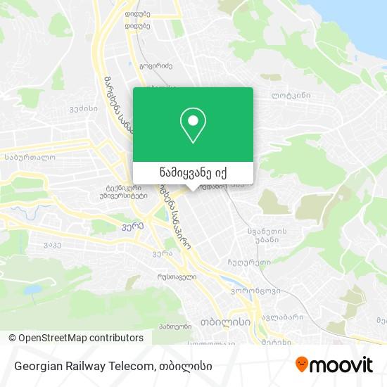 Georgian Railway Telecom რუკა