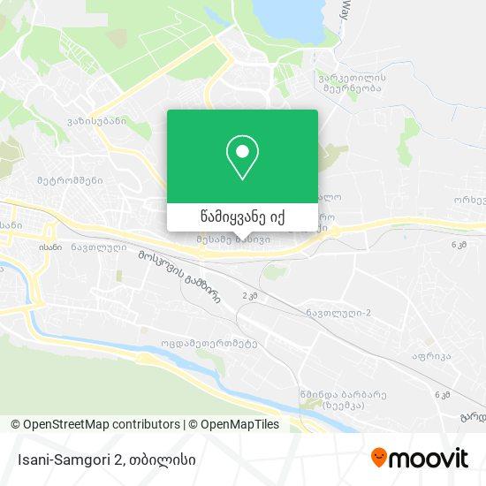 Isani-Samgori 2 რუკა