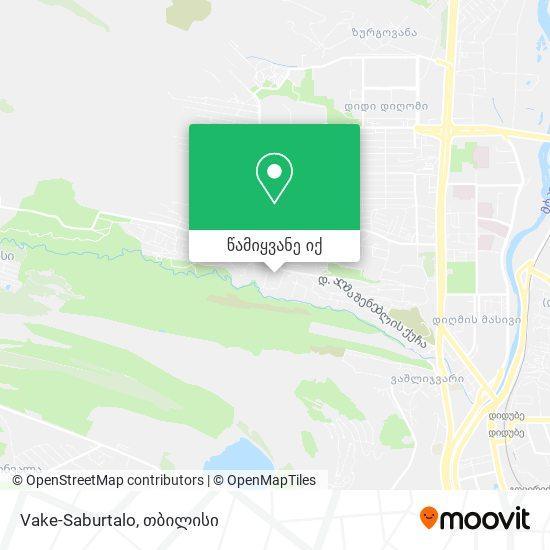 Vake-Saburtalo რუკა