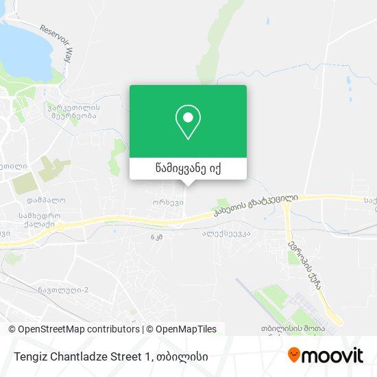 Tengiz Chantladze Street 1 რუკა