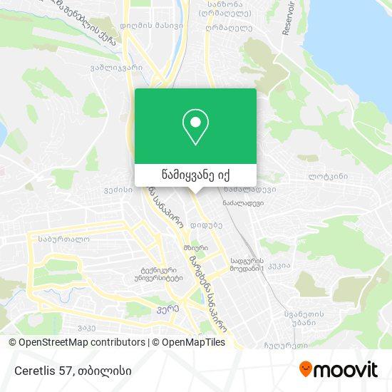 Ceretlis 57 რუკა