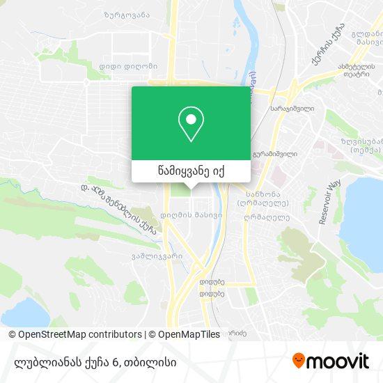 ლუბლიანას ქუჩა 6 რუკა
