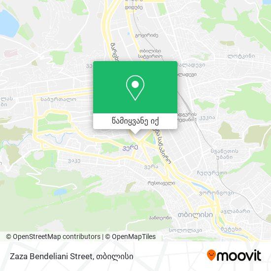 Zaza Bendeliani Street რუკა