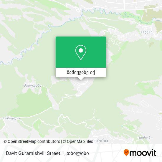 Davit Guramishvili Street 1 რუკა