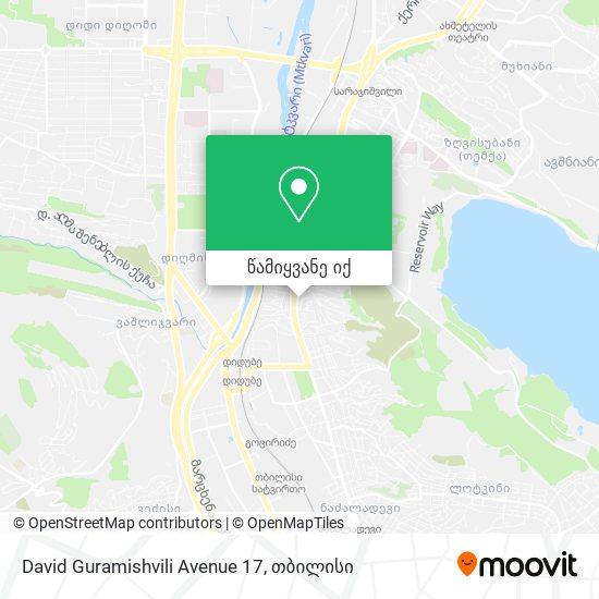 David Guramishvili Avenue 17 რუკა