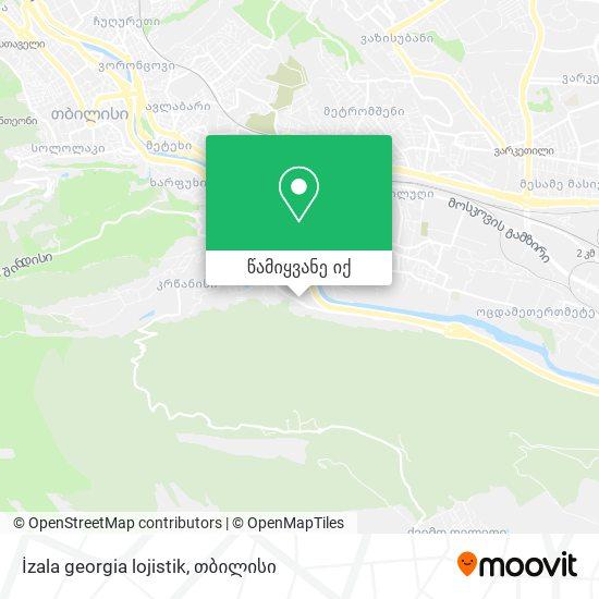 İzala georgia lojistik რუკა