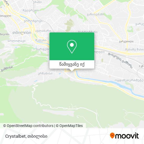 Crystalbet რუკა