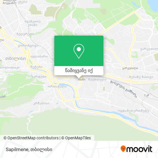 Sapilmene რუკა