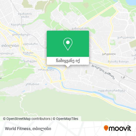 World Fitness რუკა