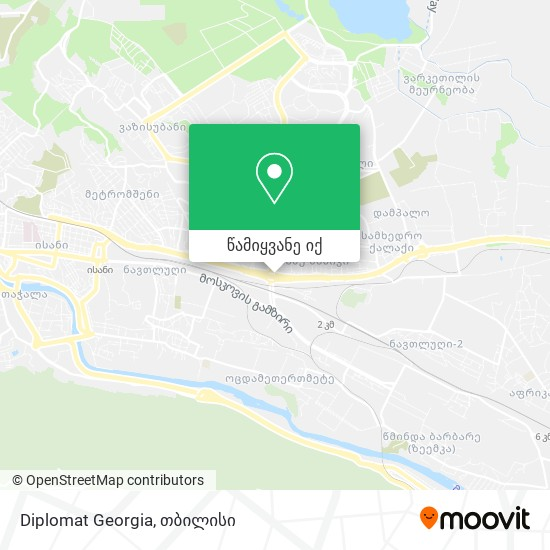 Diplomat Georgia რუკა