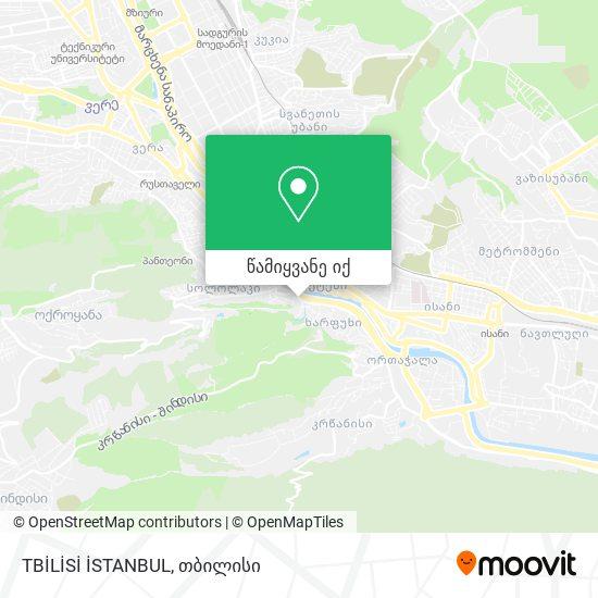 TBİLİSİ İSTANBUL რუკა